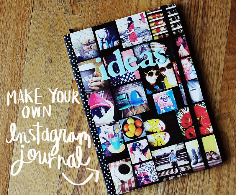 How To Make Beautiful Book Cover : Make your own instagram journal a beautiful mess