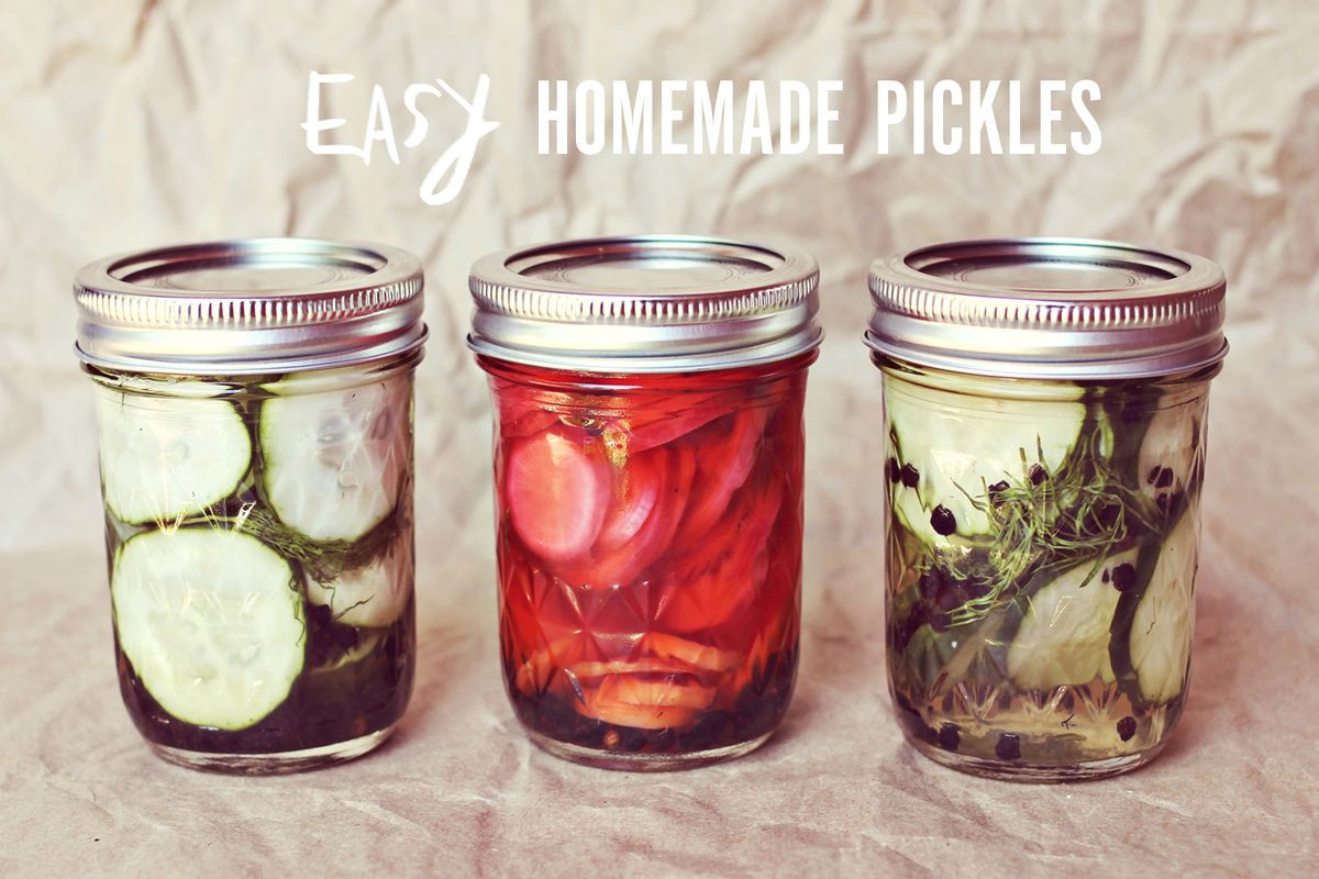 Easy Homemade Pickles - A Beautiful Mess