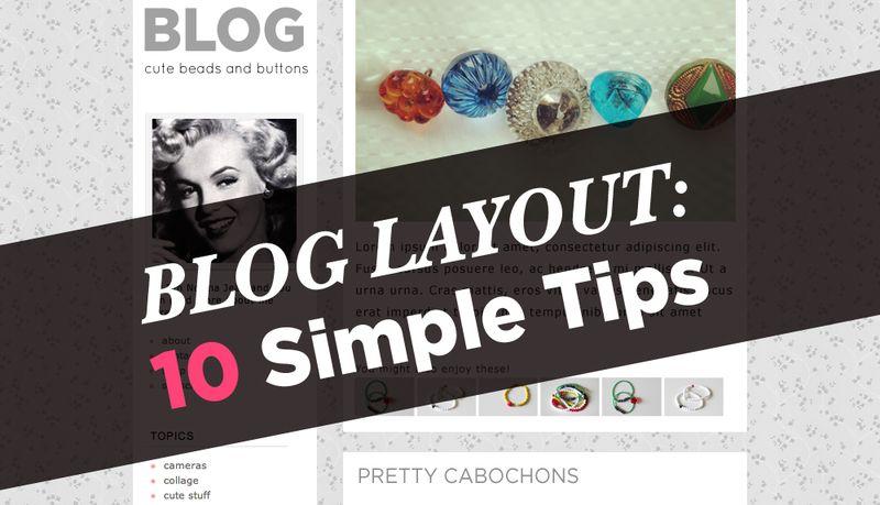 10 blog design layout tips