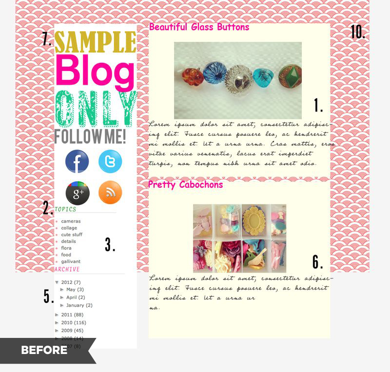 10 blog layout tips-before