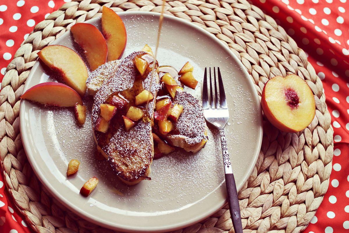 Peaches And Cream Stuffed French Toast Recipe A