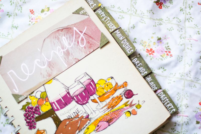 Homemade Recipe Book Cover Ideas ~ Diy recipe book a beautiful mess