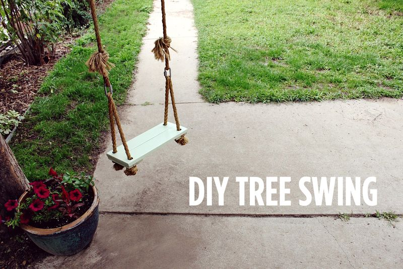 DIY Tree Swing from A Beautiful Mess