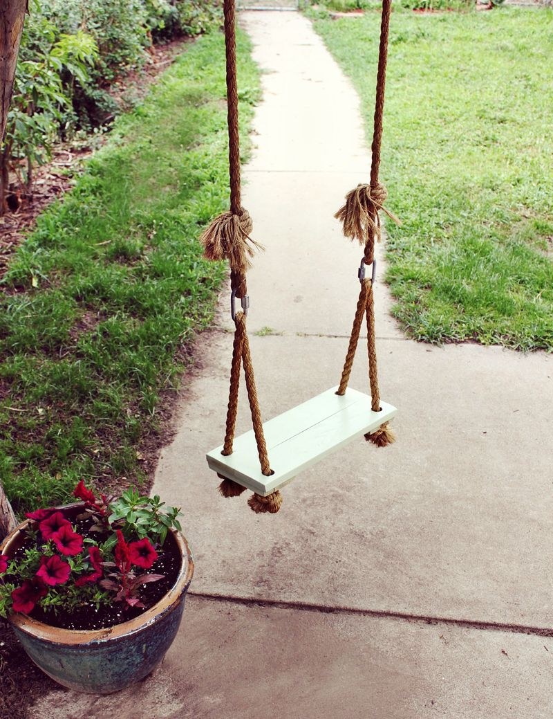 make your own tree swing a beautiful mess