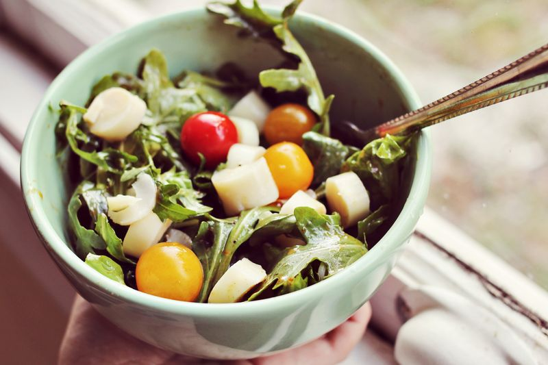 Hearts of Palm + Pesto Salad