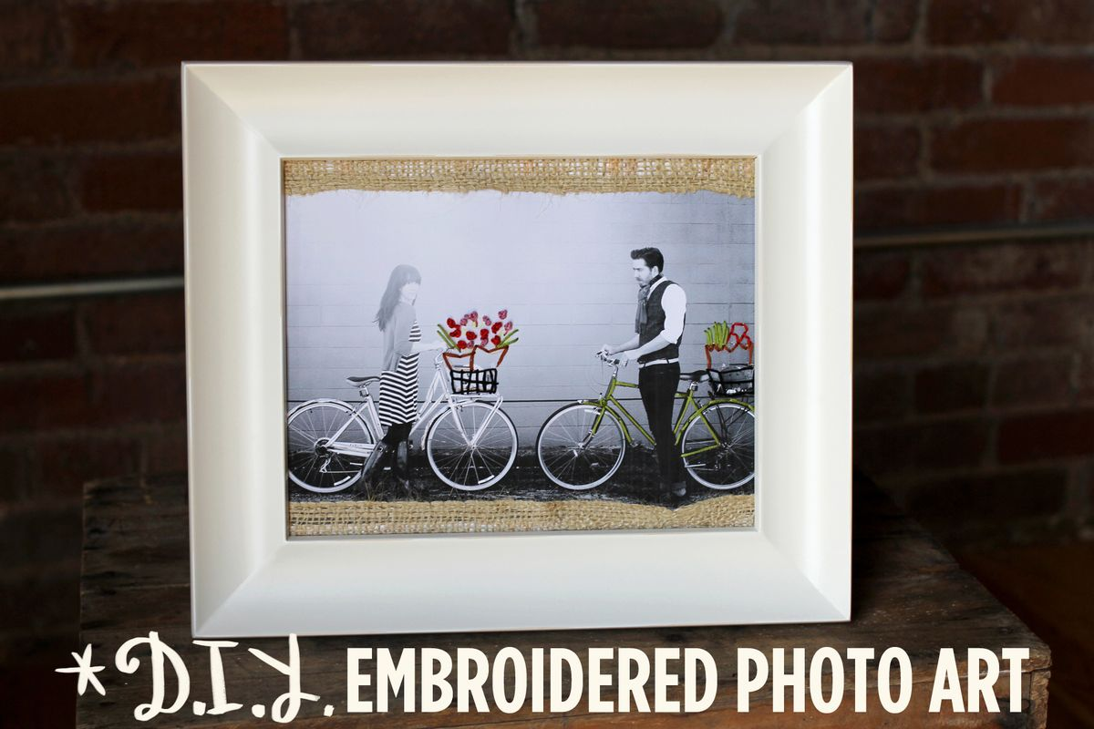 DIY Embroidered Photo Art - A Beautiful Mess