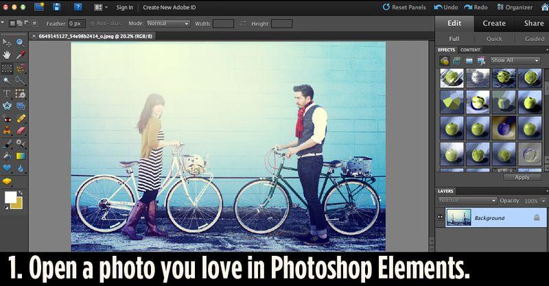 Adobe Elements step 1
