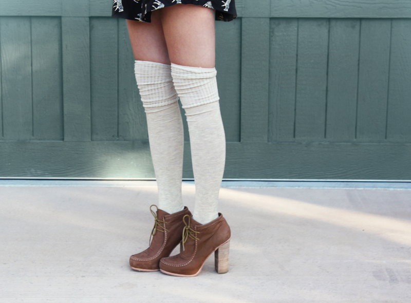 White knee socks