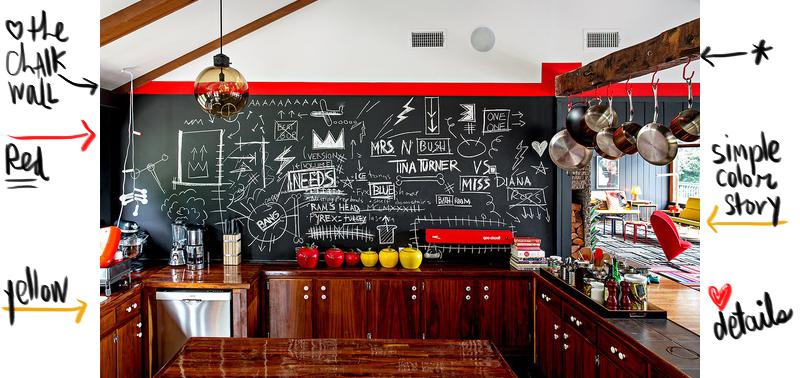 NY Times: Küche mit Tafelfarbe - gemütliche Zimmer