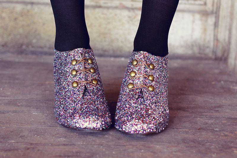 Glitter booties 1