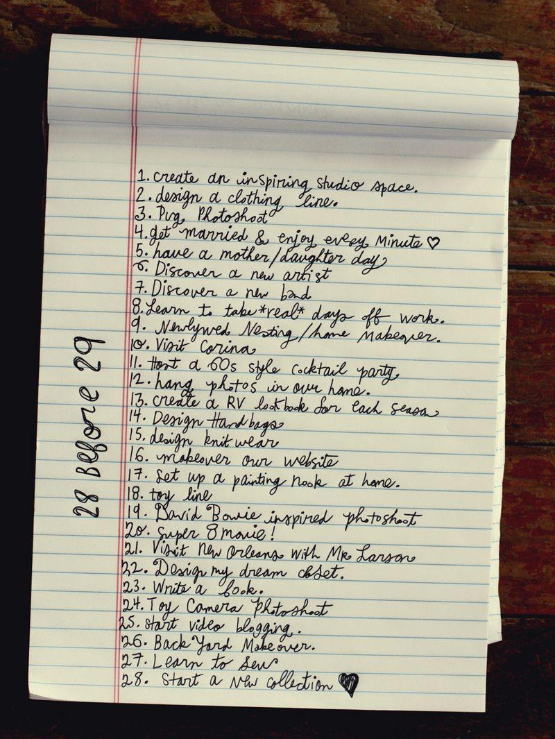 birthday lists