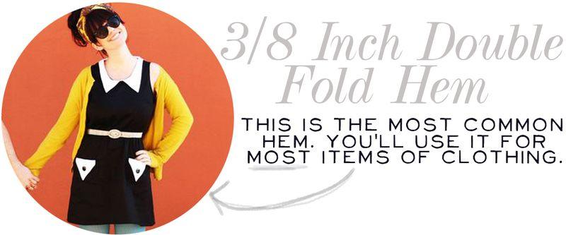 Three-Eigth Inch Double Fold Hem 2