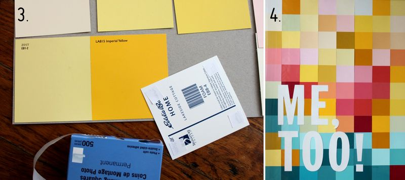Modern Wall Art with Paint Swatches! - A Beautiful Mess