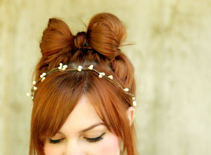 How to style a hair bow a beautiful mess 1 urmus Choice Image