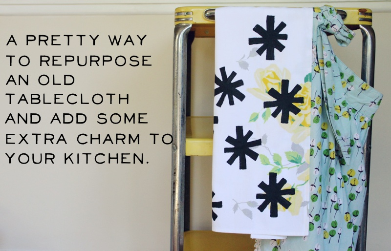 Hand Printed Tea Towel D.I.Y. - A Beautiful Mess