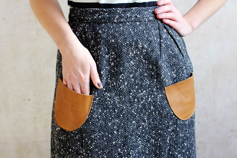 How To Add Leather Pockets To A Skirt A Beautiful Mess
