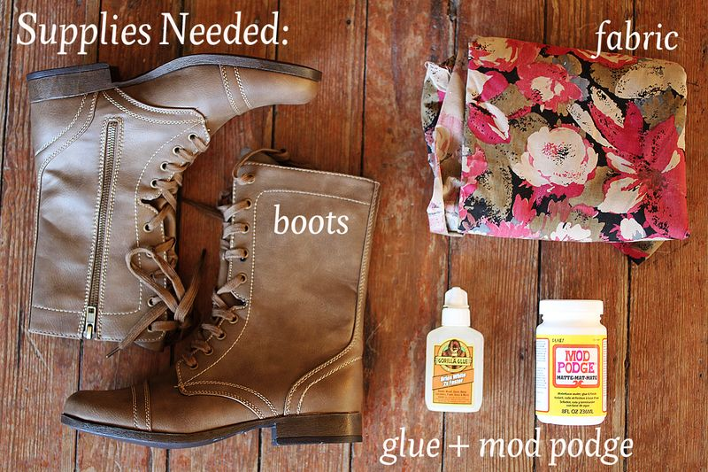 Floral boots DIY 2