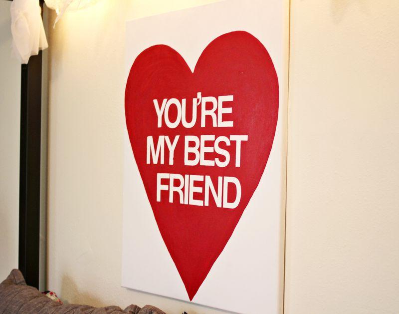 Best friend wall art weekend project a beautiful mess for Valentine ideas for friends