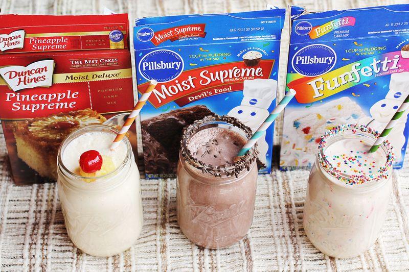 3 Cake Batter Milkshake Recipes A Beautiful Mess