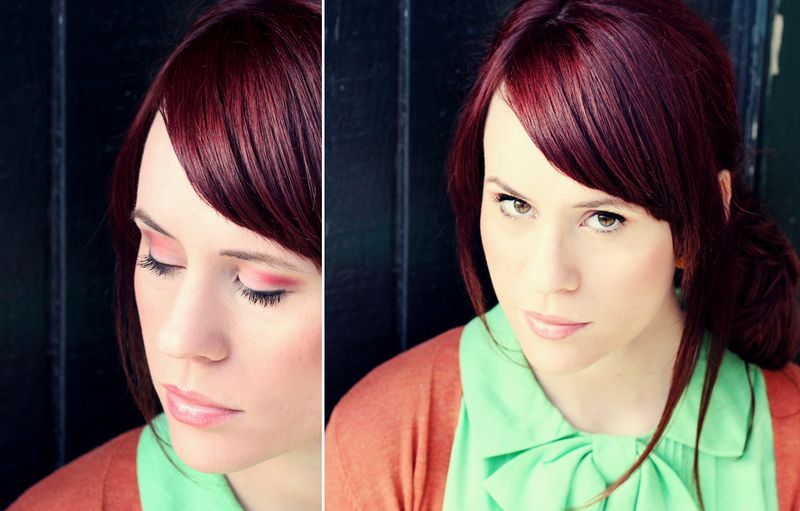 Plum Colored Natural Hair
