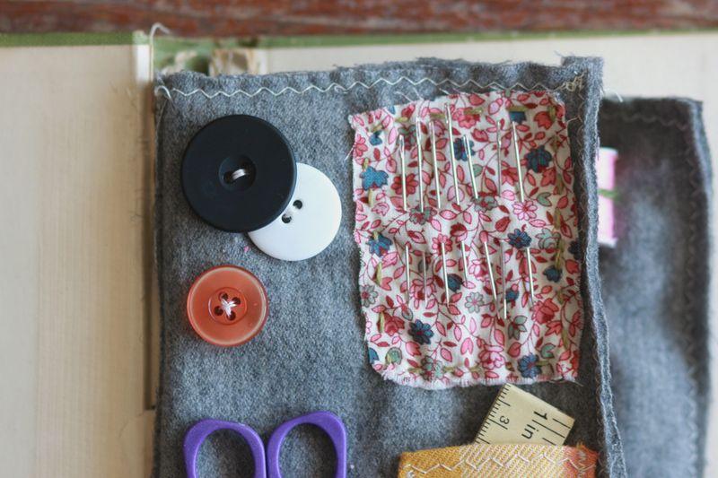 Vintage book sewing kit 3