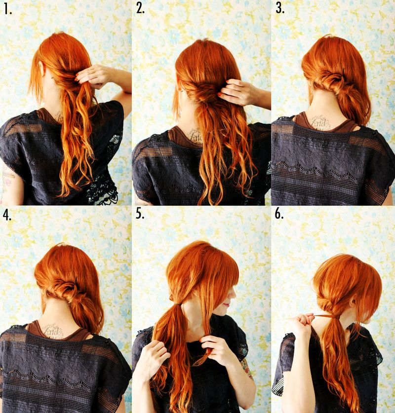 Incredible How To Style A Twisted Side Ponytail A Beautiful Mess Short Hairstyles Gunalazisus
