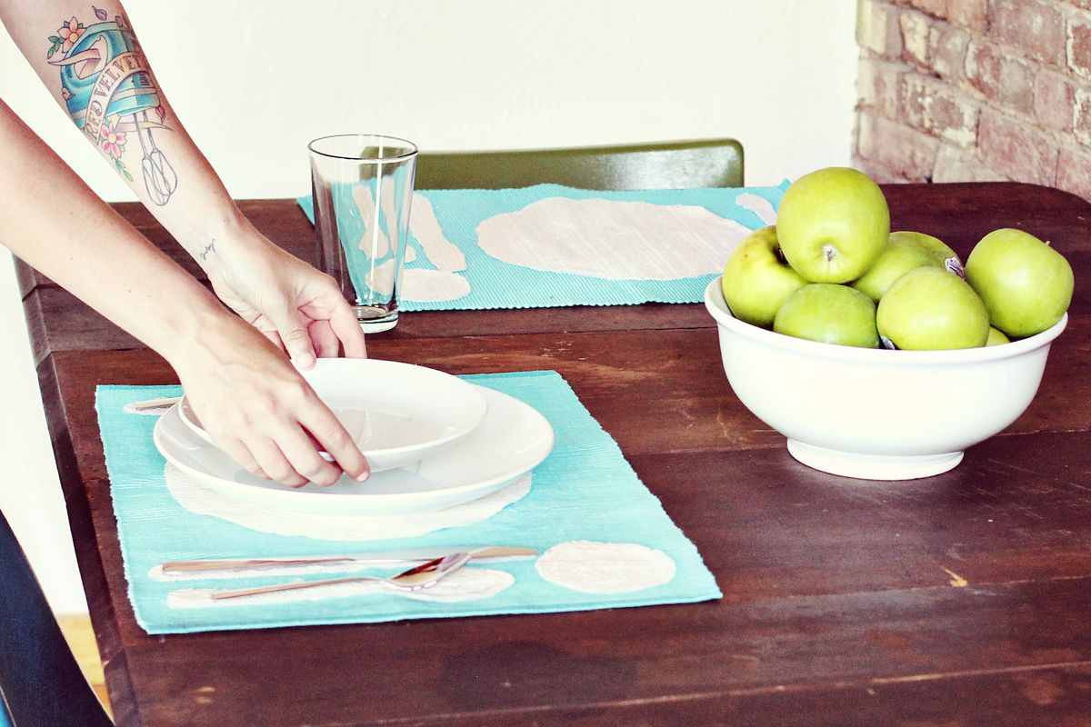 Place Setting Placemat Diy A Beautiful Mess