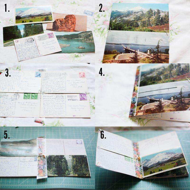 Vintage Postcard Travel Journal
