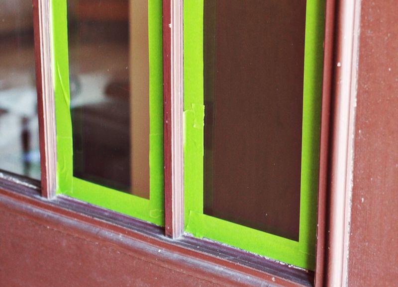 Front door tape