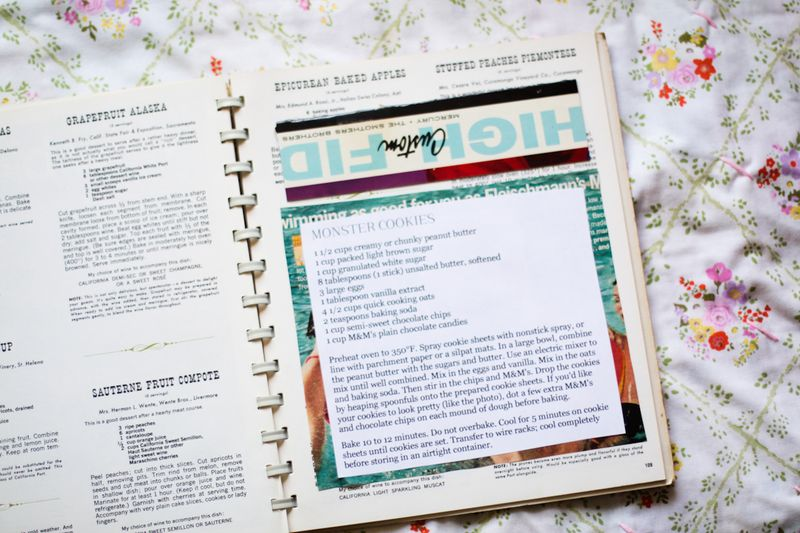 Pretty recipebook