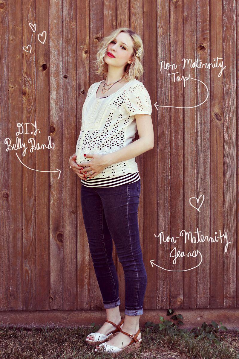 Maternity diy make a belly band a beautiful mess ombrellifo Choice Image