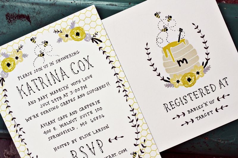 Baby Shower Invitation by Kelli Murray via Etsy