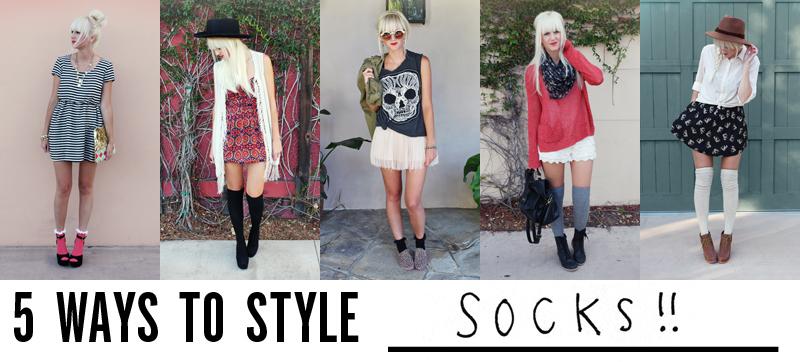 5 Ways To Style Socks A Beautiful Mess