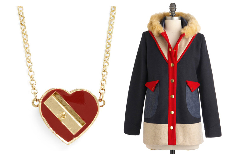 1 Pencil Sharpener Necklace 2 Lauren Moffatt Coat