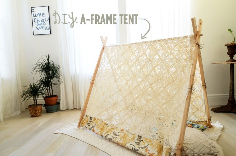 Make Your Own A-Frame Tent - A Beautiful Mess