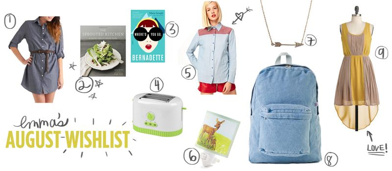 Emma's August Wishlist