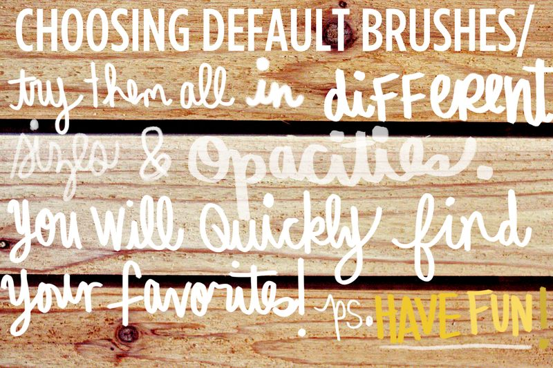 Choosing default brushes