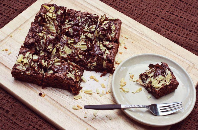 Potato chip brownie recipe