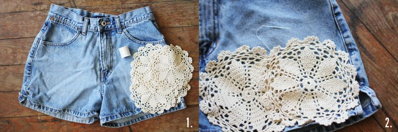Doilie shorts diy