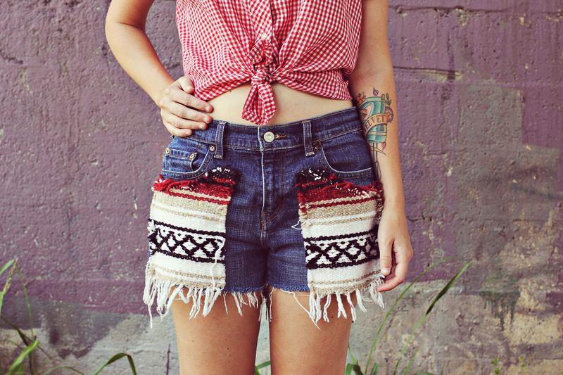 Southwestern style shorts