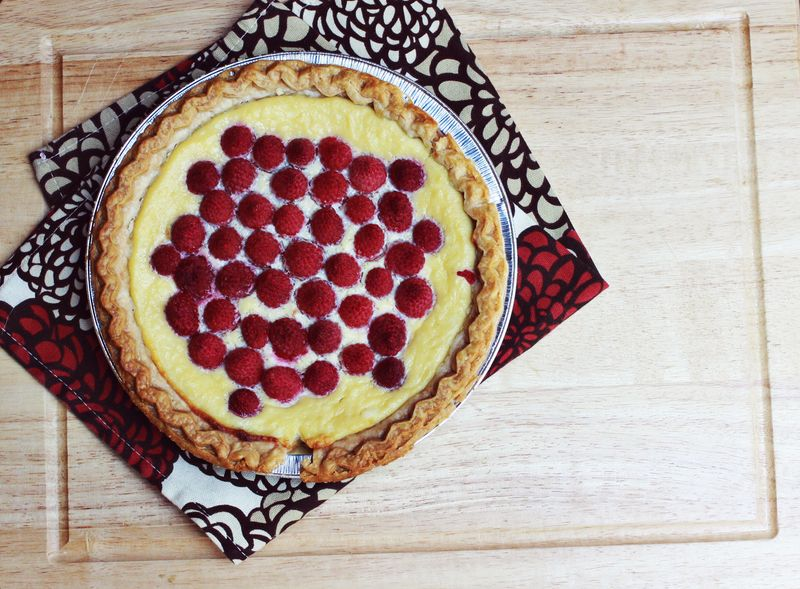 Ricotta raspberry pie4