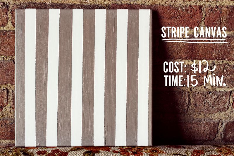 Stripe canvas DIY