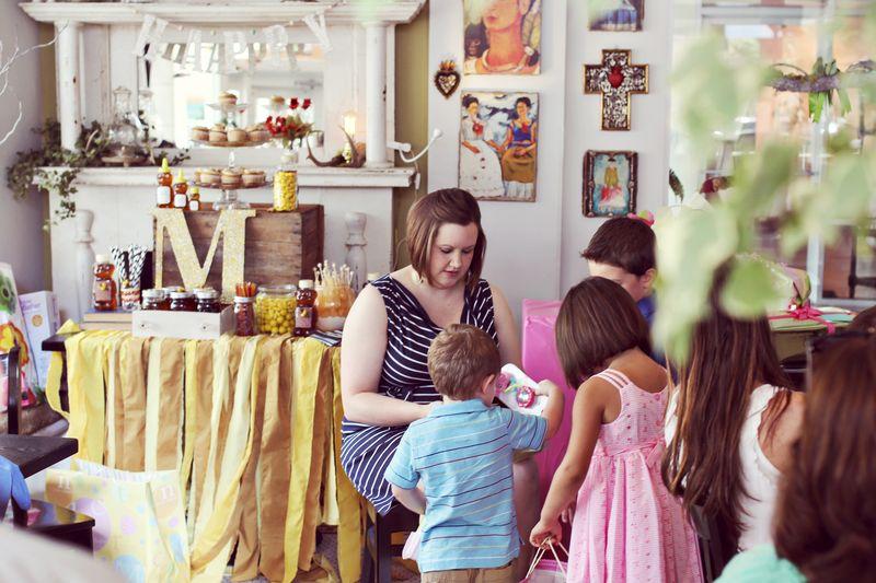 katrina's honey themed baby shower  a beautiful mess, Baby shower invitation