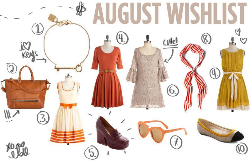 August wishlist