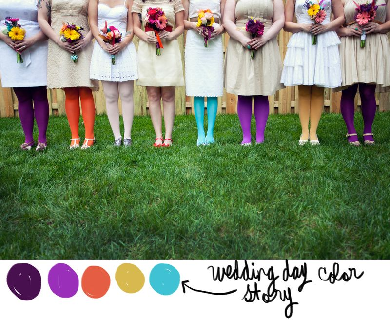 Wedding Day Color Story