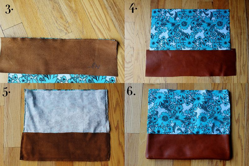 Cotton + Leather Clutch Purse DIY - A Beautiful Mess