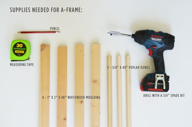 ... A-Frame Tent Supplies ... & Make Your Own A-Frame Tent u2013 A Beautiful Mess