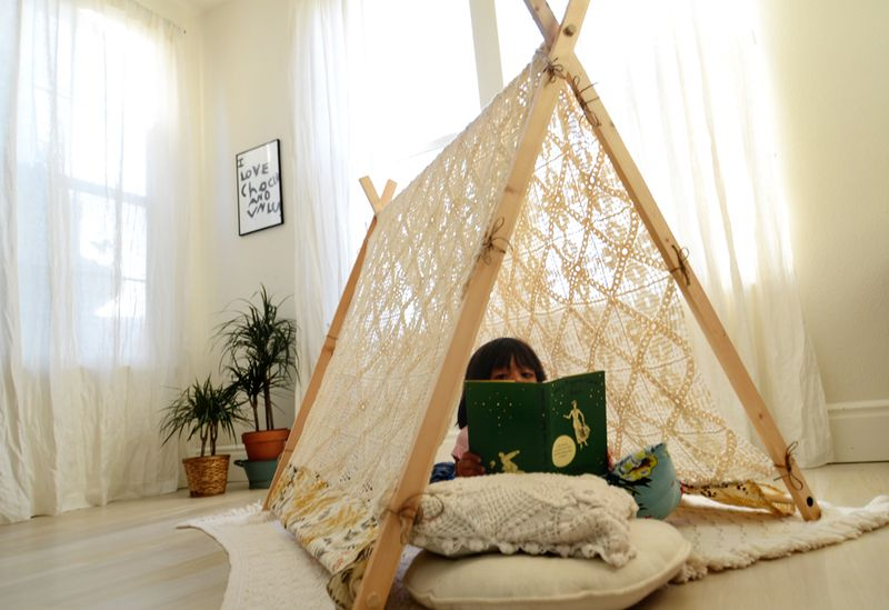 ... DIY A-Frame Tent (A Beautiful Mess) & Make Your Own A-Frame Tent u2013 A Beautiful Mess