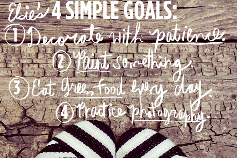 Elsie's 4 Simple Goals