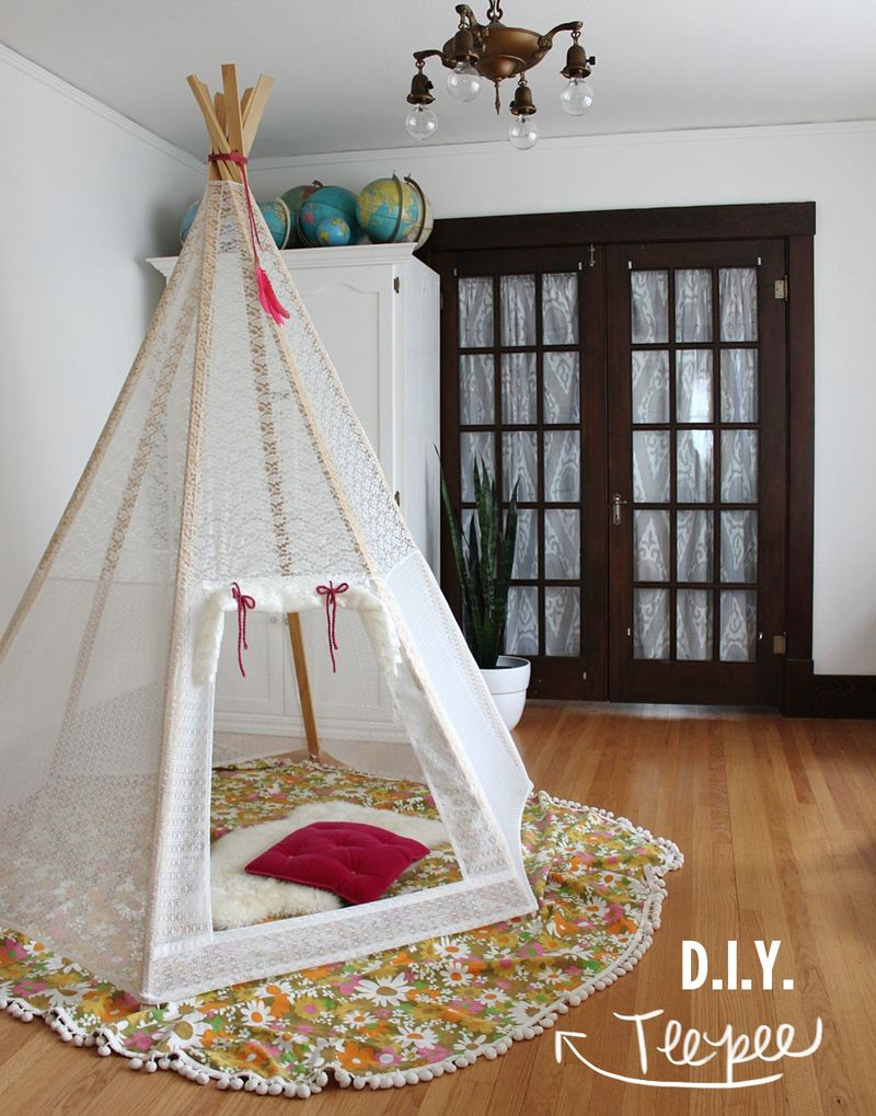 Make Your Own Play Teepee A Beautiful Mess